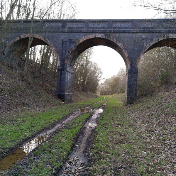 Viaduct on old Bedford to Northampton railway